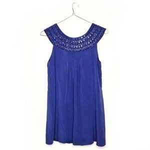 Alice & Olivia Royal Blue Beaded Collar Dress